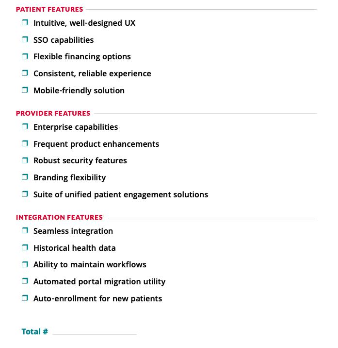 Patient Portal Checklist